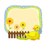 Frame with duck Royalty Free Stock Image