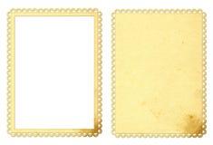 Frame e fundo de papel Imagens de Stock