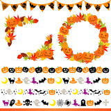 Frame e linha de Halloween Fotos de Stock
