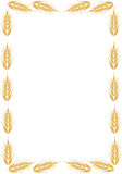 Frame with ear of wheat. Royalty Free Stock Images