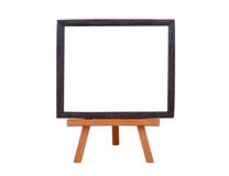 Frame on an easel. Isolated on white royalty free stock images