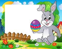 Frame with Easter bunny theme 3 Stock Images