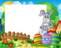 Frame with Easter bunny theme 5 Royalty Free Stock Photography