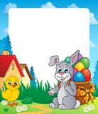 Frame with Easter bunny theme 8 Stock Image