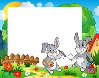 Frame with Easter bunny theme 9 Stock Images