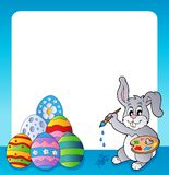Frame with Easter bunny topic 1 Royalty Free Stock Photo