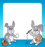 Frame with Easter bunny topic 2 Royalty Free Stock Image