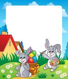 Frame with Easter bunny topic 4 Royalty Free Stock Photos
