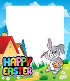 Frame with Easter bunny topic 5 Stock Image