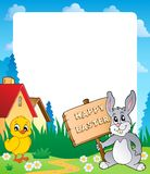 Frame with Easter bunny topic 7 Stock Photos
