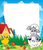 Frame with Easter bunny topic 8 Royalty Free Stock Photo