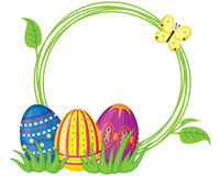 Frame with Easter eggs Royalty Free Stock Images