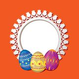 Frame with Easter eggs Stock Photography