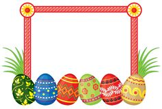Frame with Easter eggs Royalty Free Stock Image