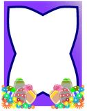 Frame with easter eggs and flowers vector illustration