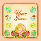 Frame  with Easter eggs spring vector Stock Image