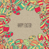 Frame from Easter eggs Royalty Free Stock Image