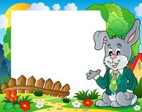 Frame with Easter rabbit theme 1. Eps10 vector illustration Stock Photography
