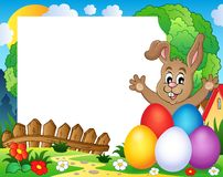 Frame with Easter rabbit theme 2 Stock Photography