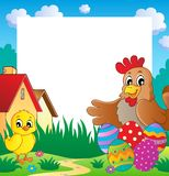 Frame with Easter theme 2 Royalty Free Stock Photo