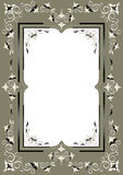 Frame with Eastern decor on a greenish gray backgr Stock Images