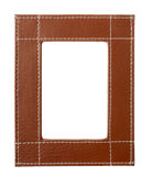 Frame edges brown leather Stock Photo