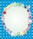 Frame with education and science sticker Stock Photography