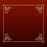 Frame elegante do quadrado do projeto Imagem de Stock