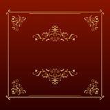 Frame elegante do quadrado do projeto Imagem de Stock Royalty Free