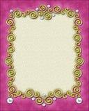 Frame elegante do redemoinho Imagem de Stock Royalty Free