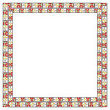 Frame with elements of national Ukrainian embroidered. Stock Photography