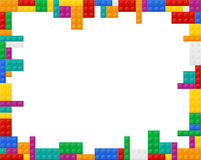Frame elements a plan view of the colored plastic constructor  Royalty Free Stock Photography