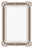 Frame em branco do certificado Imagem de Stock