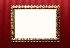 Frame em branco do vintage com trajeto de grampeamento Imagem de Stock