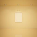 Frame em branco em um quarto, ilustração 3d Foto de Stock