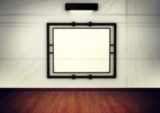 Frame em branco na galeria. 3d rendem Foto de Stock