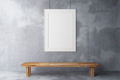 Frame em branco na galeria imagens de stock