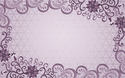 Frame with embossed  pattern in shades of lilac Royalty Free Stock Images