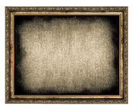 Frame with empty canvas Royalty Free Stock Photo