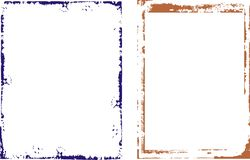 Frame en de Reeks van Grenzen Royalty-vrije Stock Afbeeldingen