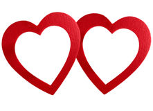 Frame encadernado dos corações Fotografia de Stock Royalty Free