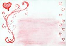 Frame encantador dos corações ilustração royalty free