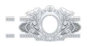 Frame Engraving Royalty Free Stock Photo