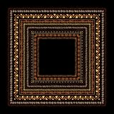 Frame with ethnic handmade ornament for your Stock Images