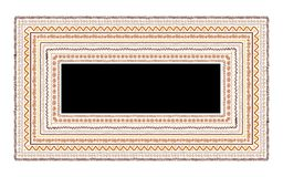 Frame with ethnic handmade ornament for your Stock Photo