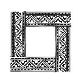 Frame with ethnic handmade ornament for your Stock Image
