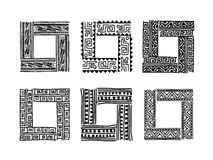 Frame with ethnic handmade ornament for your Royalty Free Stock Photography