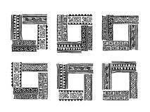 Frame with ethnic handmade ornament for your Stock Photos