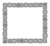 Frame with ethnic handmade ornament for your Royalty Free Stock Images
