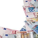 Frame of euro banknotes Royalty Free Stock Photo